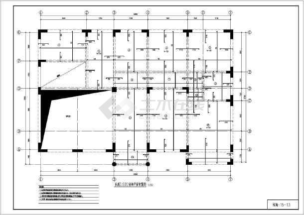 异形柱框架结构别墅施工图