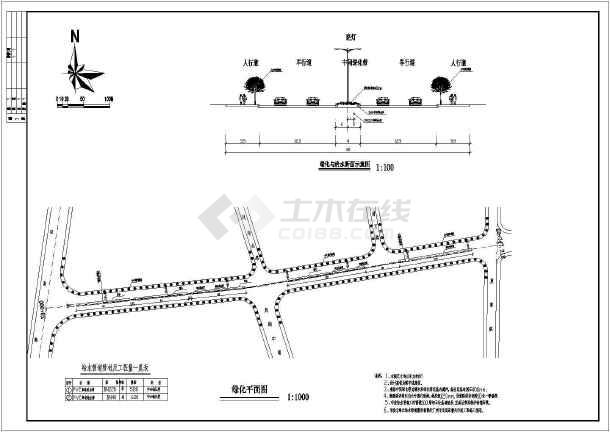 市政道路电气工程cad施工设计图纸