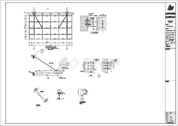 展览厅室钢结构及屋面钢结构施工图