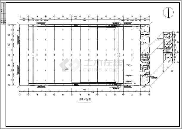 工厂图纸防雷接地平面设计施工图_cad车间下5.4买哪里魔附图纸图片