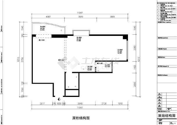 某地一室一厅小户型装修平面套图图片1