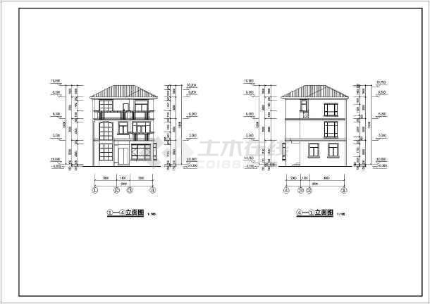 某a户型三层别墅建筑设计图(含详图)