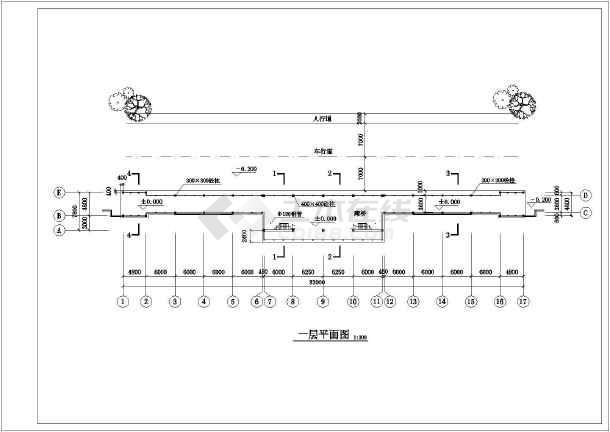 古建仿古木结构亭廊建筑施工图
