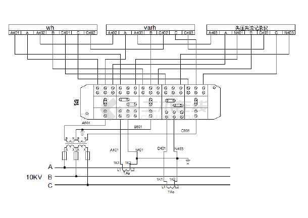 微波炉高压变压器接线图