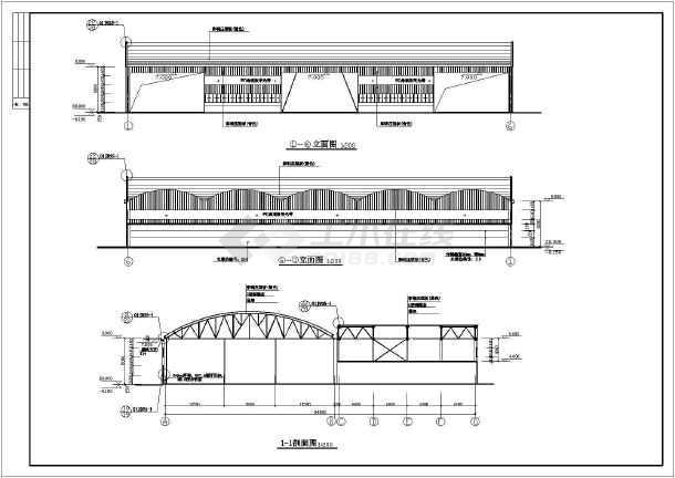 某混凝土搅拌站建筑,结构施工图纸_cad图纸下载-土木