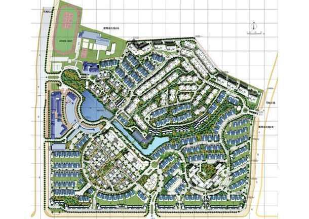 图纸 园林设计图  万科小区规划总平图集