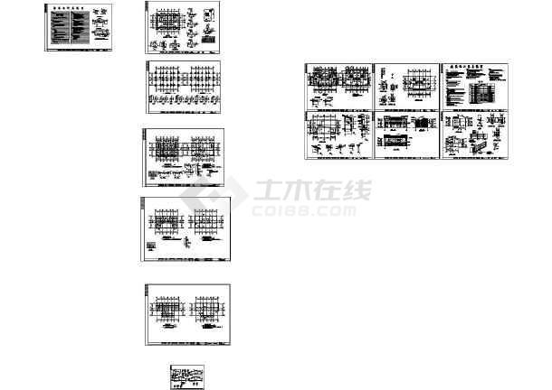 农村别墅全套施工图(占地110平方)-图3