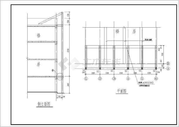 某地墙面广告牌钢结构设计施工图纸