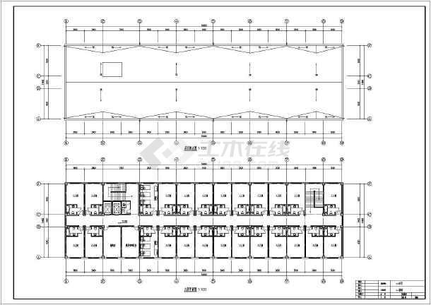 该工程为某地6层框架结构宾馆毕业设计,图纸内容包含基础平面布置图