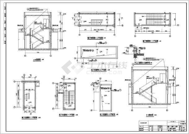 成都某车库地下一层小区建筑设计方案图装修设计去哪找图片