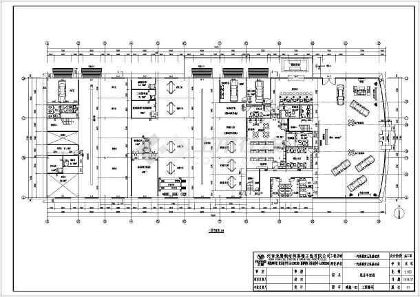 商丘某4s店汽车展厅建筑结构设计施工图