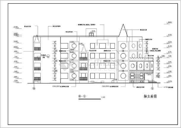 某地四层框架结构幼儿园建筑设计施工图