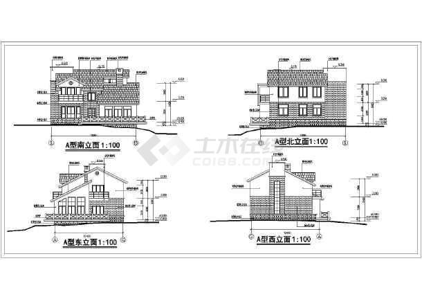 某农村两层小型别墅建筑方案设计图图片3