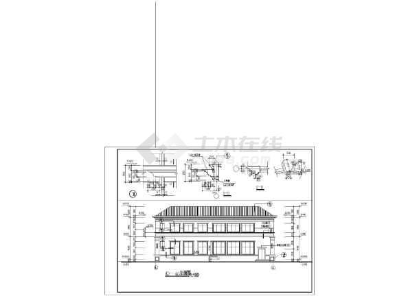 某市2层混凝土框架结构会所建筑施工图