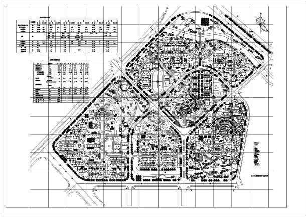 某城市居住区建筑规划设计总平面图图片