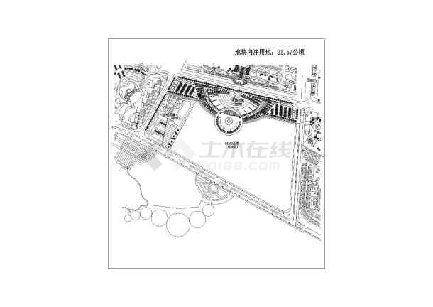 东城市民休闲广场建筑规划设计方案总图