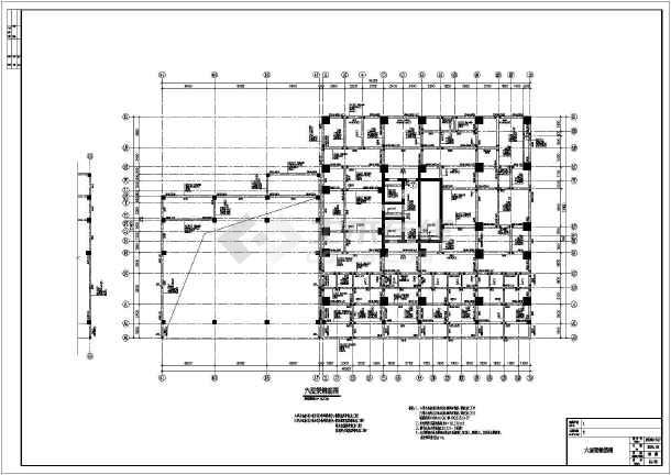 某地二十层剪力墙结构商住楼结构施工图  简介:高位转换框支,6度区