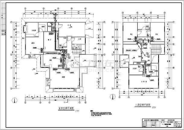 【北京】某小区两层别墅设计施工图