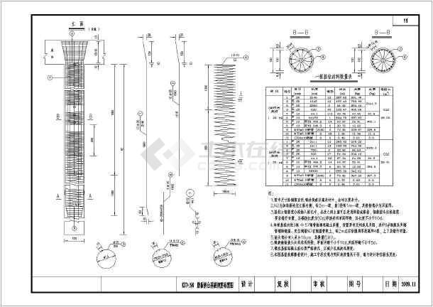某设计院设计中桥配筋图纸示意笛子图纸制作尺寸桩基图片