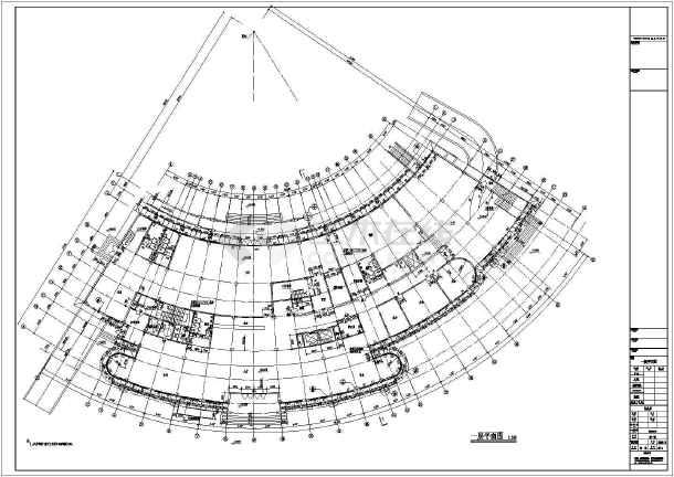 某12层框架结构弧形办公楼建筑设计方案图