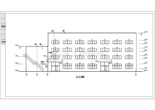 银川某企业2层压缩机厂房建筑施工图-图1
