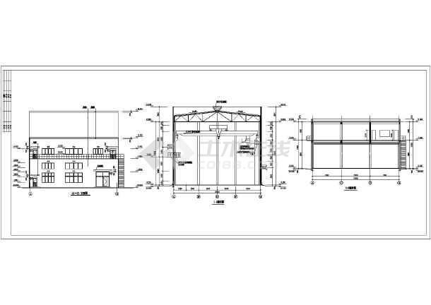 银川某企业2层压缩机厂房建筑施工图-图2