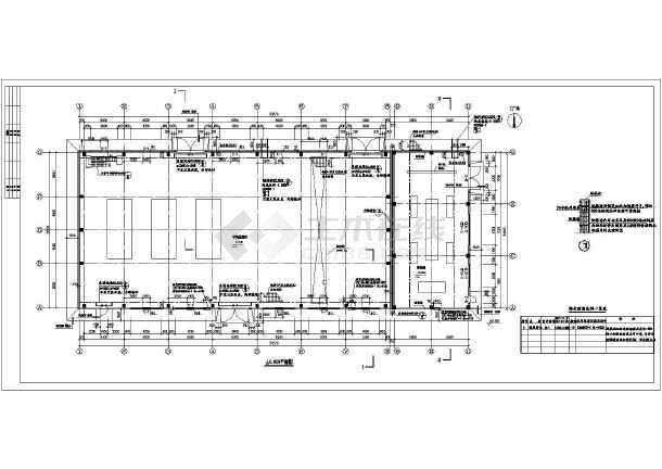 银川某企业2层压缩机厂房建筑施工图-图3