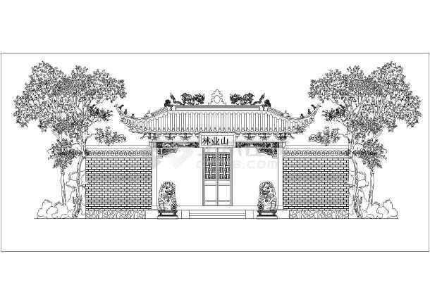 图纸 建筑图纸 古建筑设计 庙宇建筑 一些关于园林寺庙建筑方案图施工