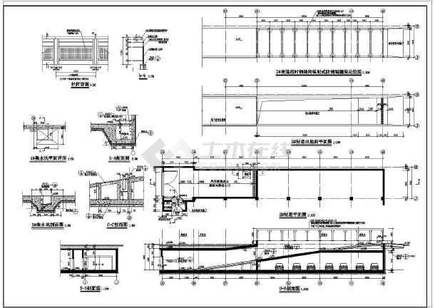 某地下框架结构人防车库建筑施工图