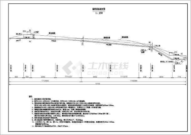 设计图 大坝堤防 大坝相关 某工程水库除险加固施工图(排水和溢洪道)