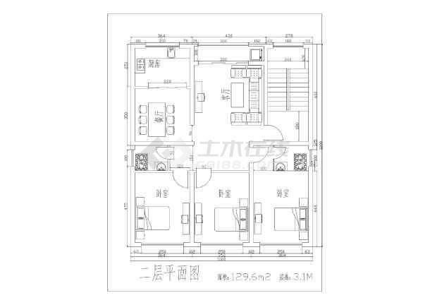 南方某地区三层别墅建筑方案设计图纸