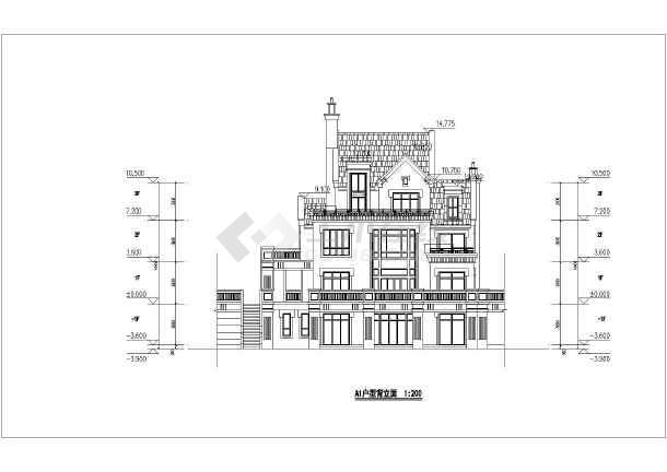 湖畔花园小区山地别墅建筑方案设计图
