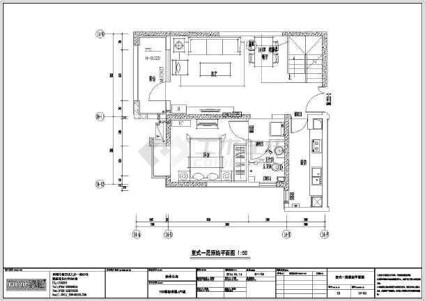 徐州枫林天下复式别墅装修设计图纸图片1图片