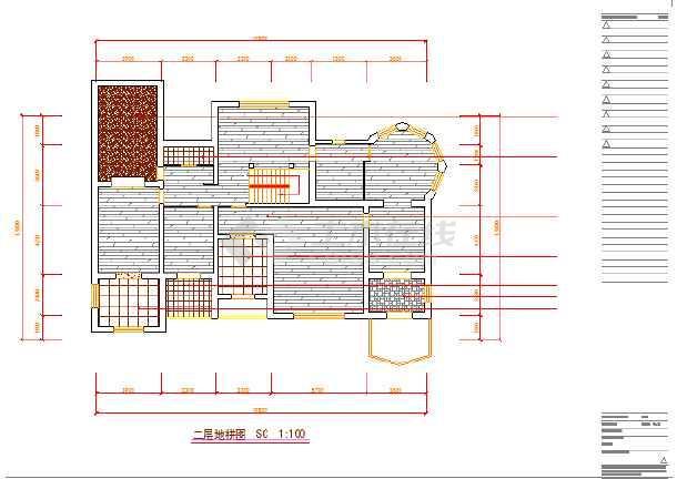 某精装别墅室内装修施工图高清图片