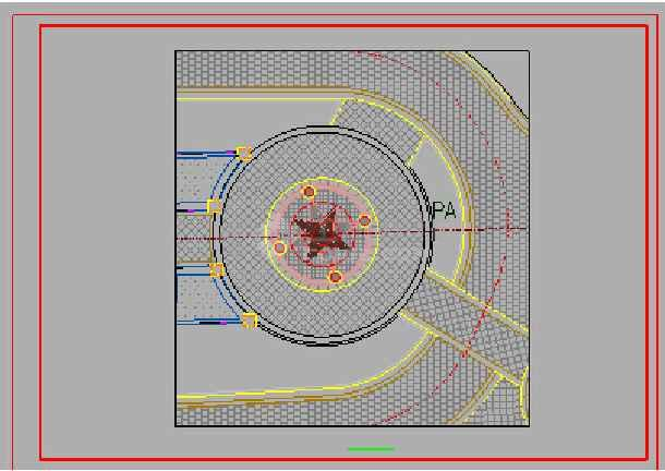 某小区圆形欧式铁艺景观亭施工详图