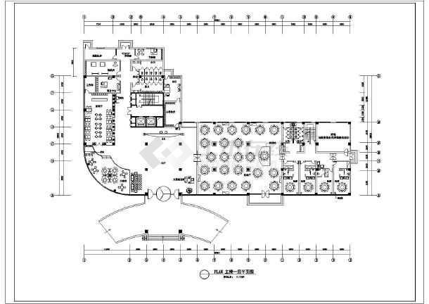 焦作某地林源大厦酒店建筑平面设计图