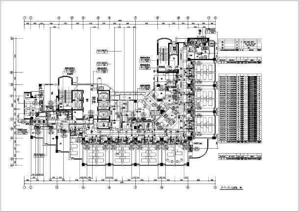 某医院门诊楼标准层暖通平面设计施工图图片1
