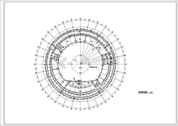 某地两层圆形会议中心建筑设计方案图