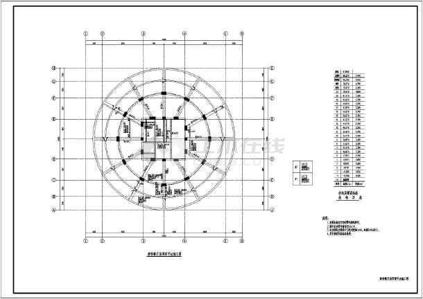 一层(带地下室)框剪结构办公楼,图纸包括:结构总说明,基础平面布置图