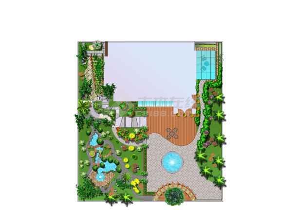 别墅庭院设计(原创)善别墅泳池海景苏梅六图片