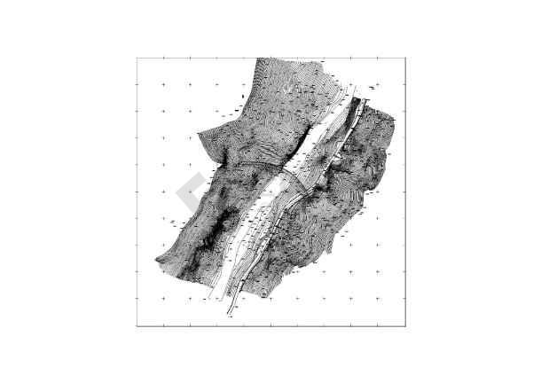观音峡水电站水工专业拱坝结构布置图