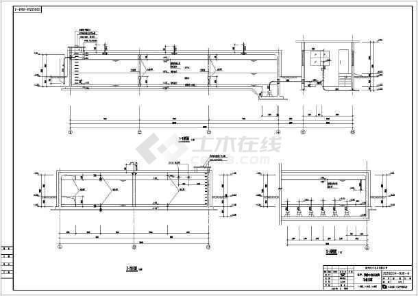 某甲级院一层砖混结构水池水泵房设计图