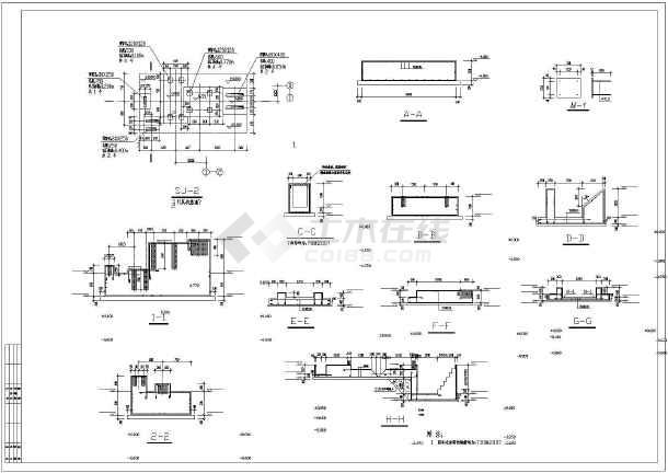 上海某锅炉房框架结构设计施工图纸图片