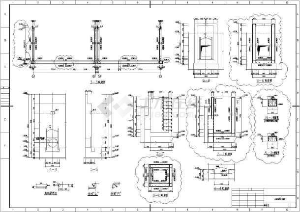 某地区泵房及吸水井,水池结构施工图