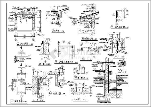 某地三层框架结构独栋欧式别墅建筑设计施工图