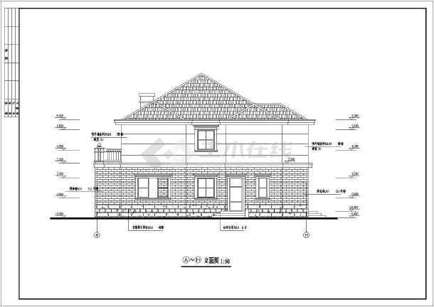 某地二层砖混结构别墅建筑设计施工图