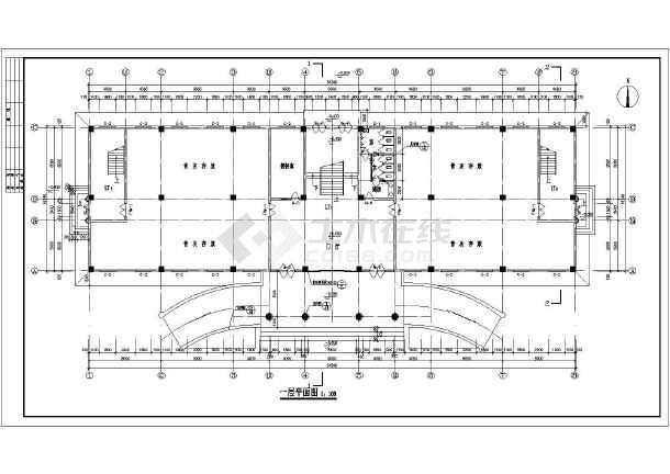 某地5层墓园图纸框架结构建筑设计施工图建房v墓园给排水古建自