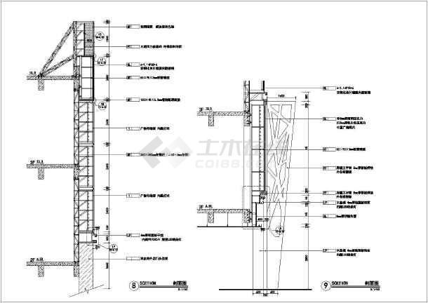 某地大型商场外立面装修设计施工图_cad图纸符号是意思楼层图纸平面什么?图片