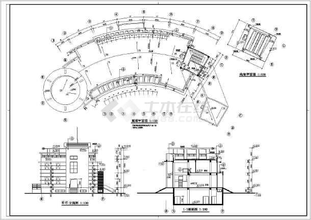 某小区两层框架结构会所建筑施工图