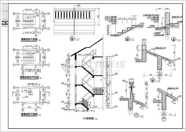 某市区2层砖混结构坡屋面别墅建筑方案图纸